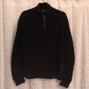 Express Mens Zip Up Black Sweater